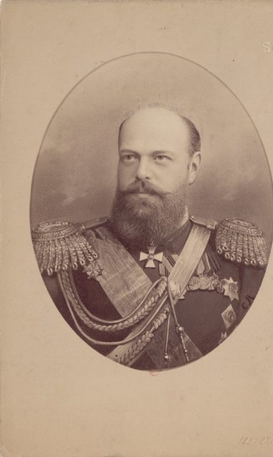 Alexander III, the Emperor of Russia in military uniform