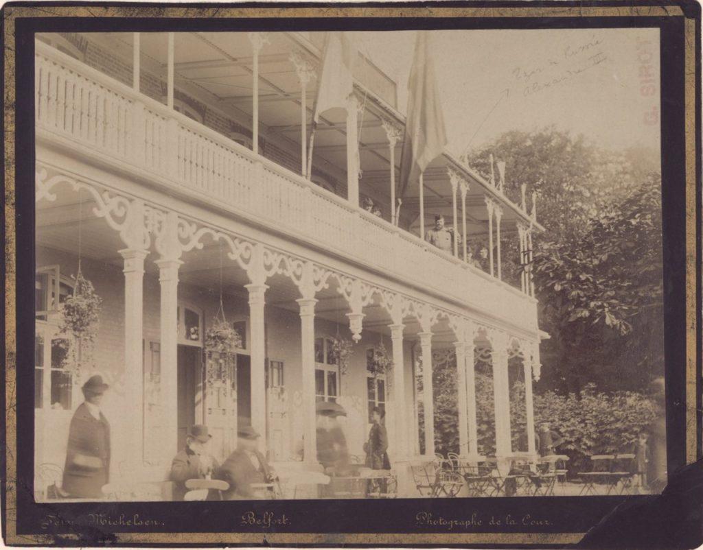 Alexander III, on a balcony