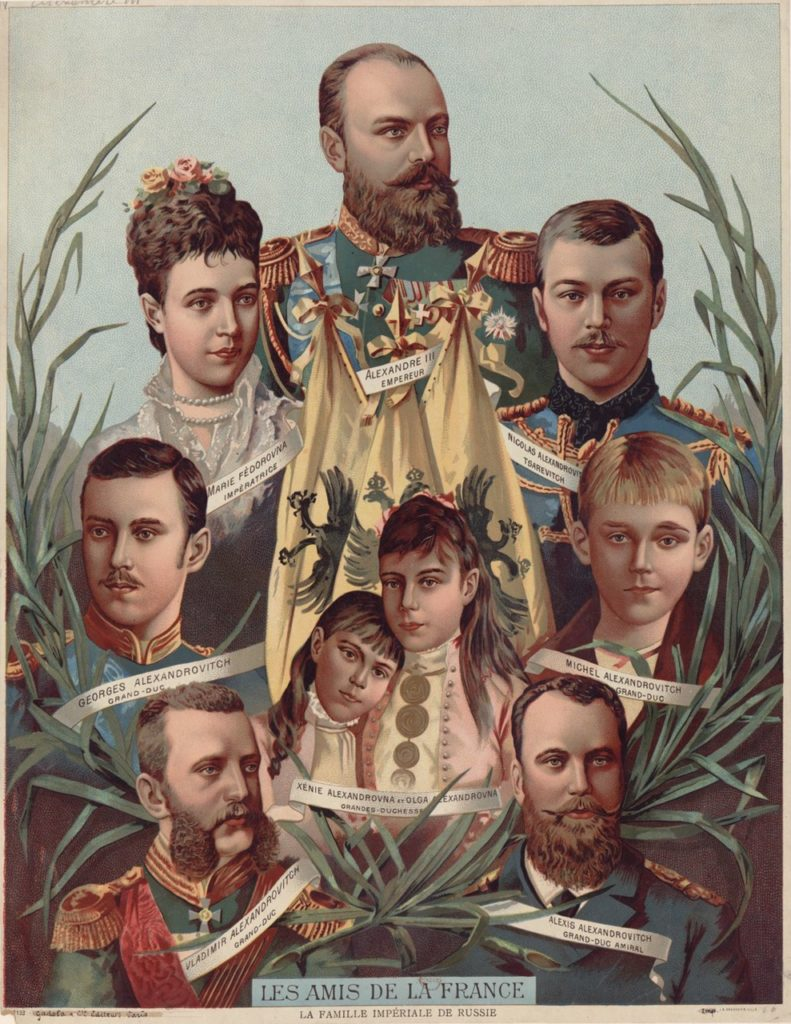 Alexander III, the Emperor of Russia's fmily - Friends of France
