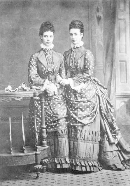 Tsarevna Maria Feodorovna with her sister Princess of Wales Alexandra.