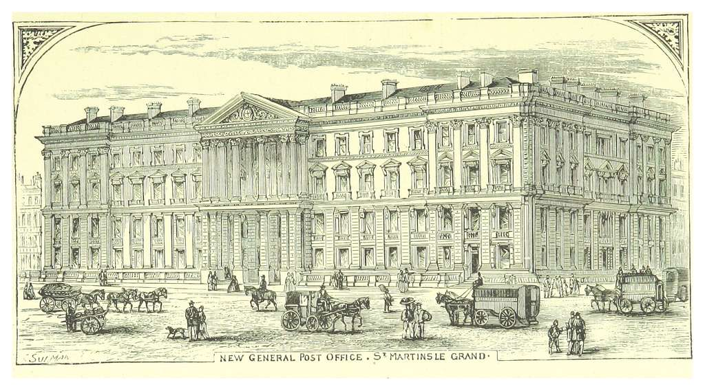 LONDON ILLUSTR(1873) p2.115 THE NEW GENERAL POST OFFICE