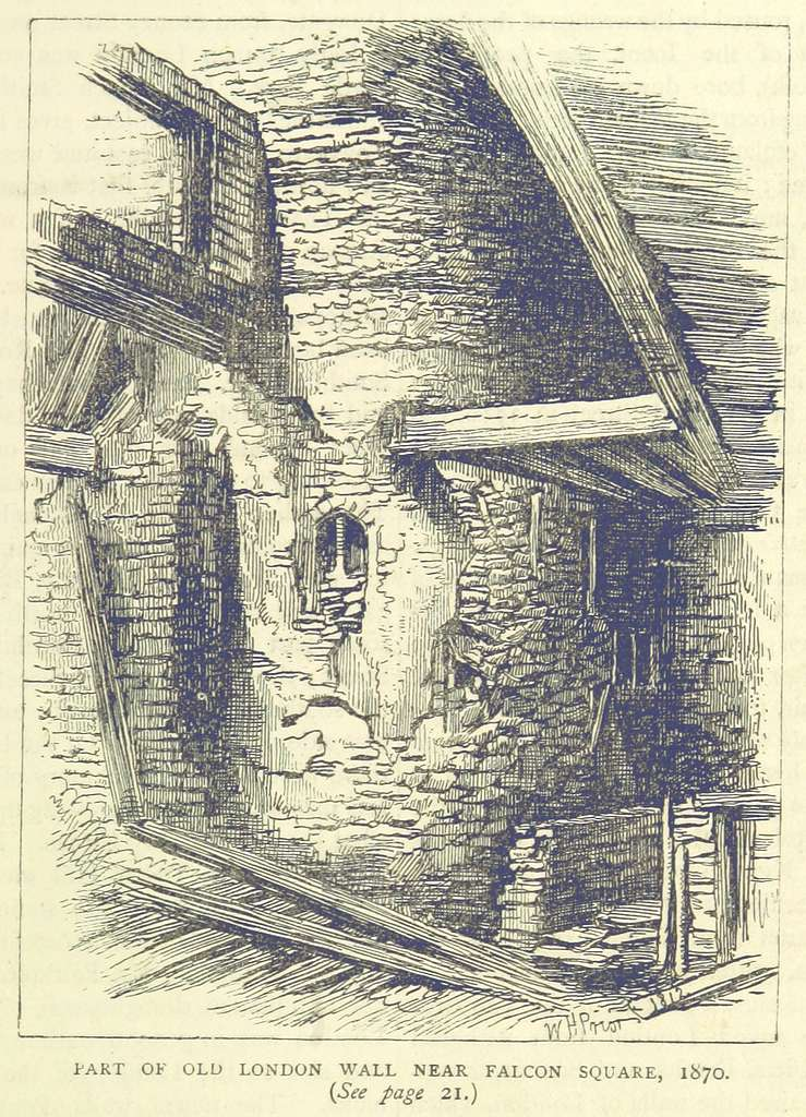 ONL (1887) 1.019 - Part of Old London Wall, near Falcon Square