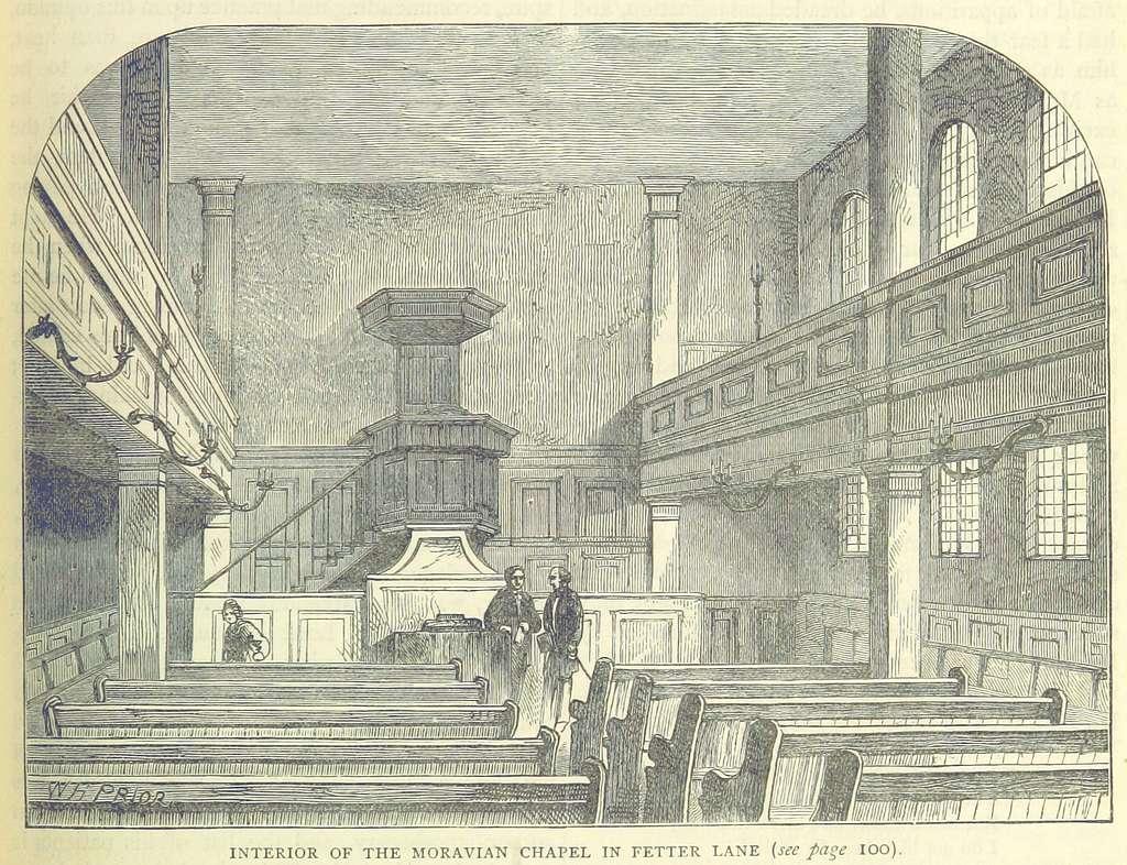 ONL (1887) 1.097 - Interior of the Moravian Chapel in Fetter Lane