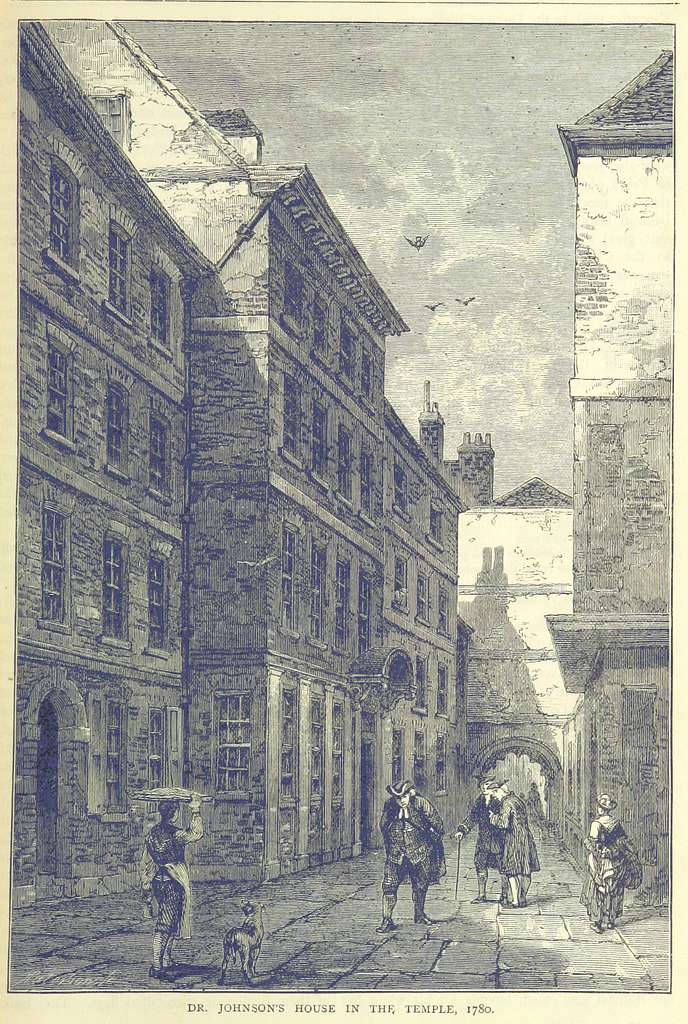 ONL (1887) 1.115 - Dr Johnson's House in the Temple, 1780