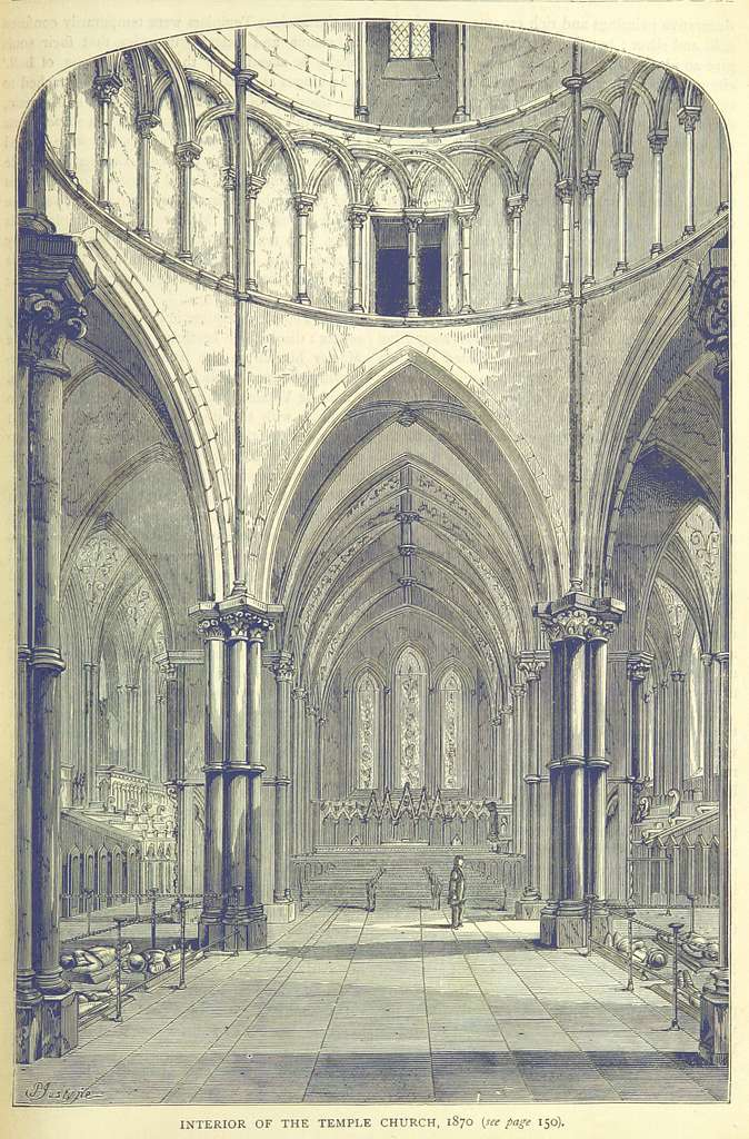 ONL (1887) 1.151 - Interior of the Temple Church, 1870