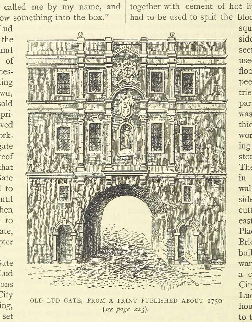 ONL (1887) 1.226 - Old Lud Gate, about 1750