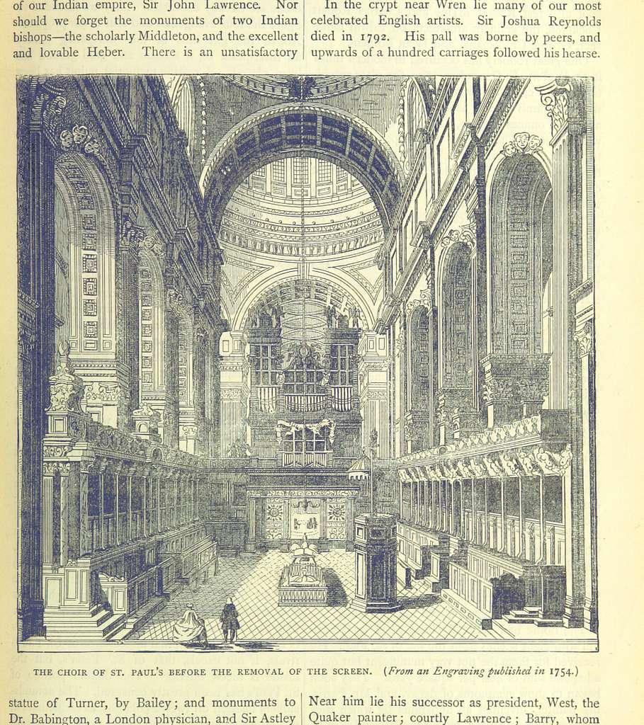 ONL (1887) 1.253 - The Choir of St Paul's, 1754