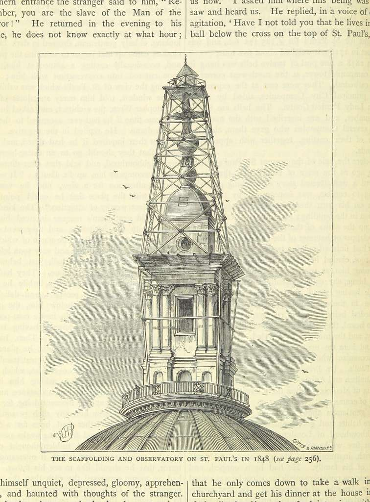 ONL (1887) 1.258 - The Scaffolding and Observatory on St Paul's in 1848