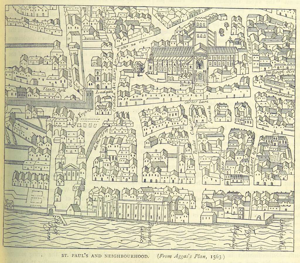 ONL (1887) 1.289 - St Paul's and Neighbouhood, from Aggas's Plan, 1563