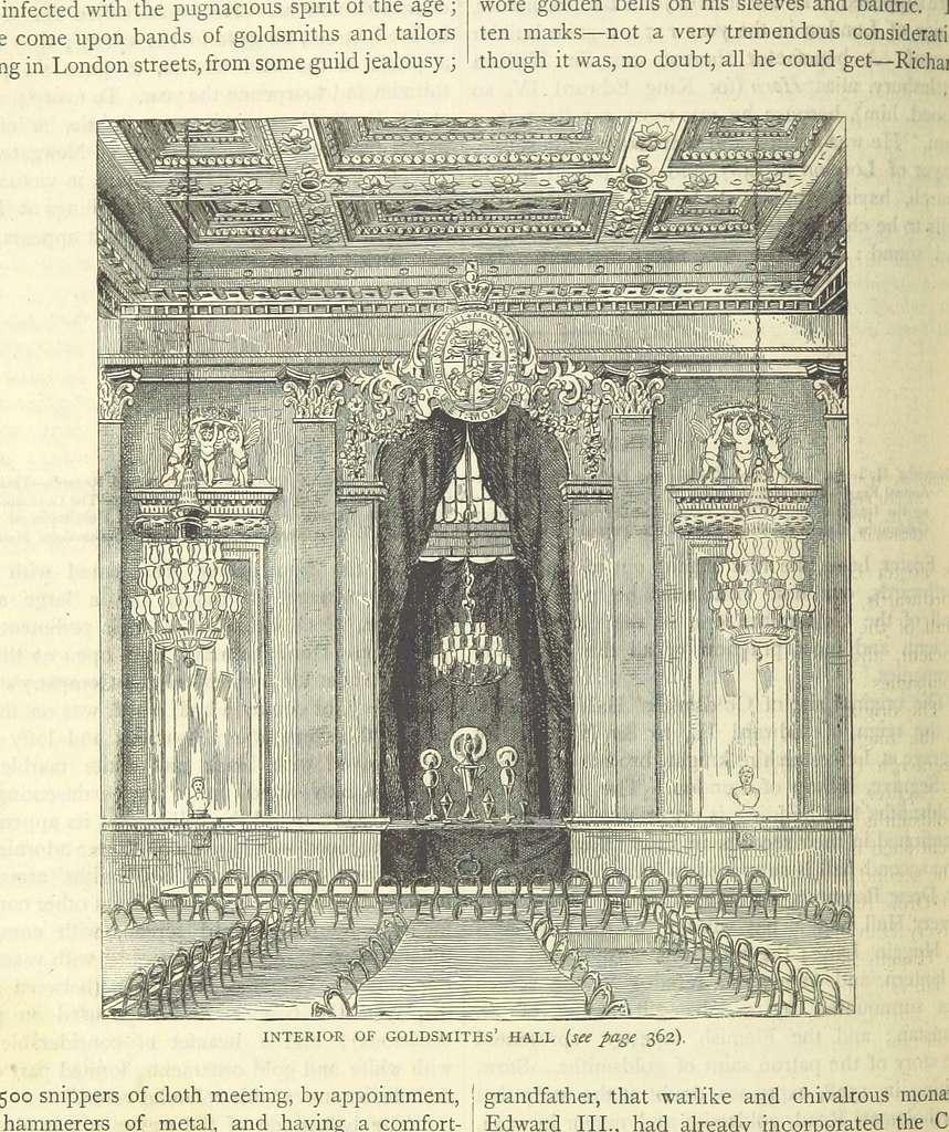 ONL (1887) 1.354 - Interior of Goldsmiths' Hall