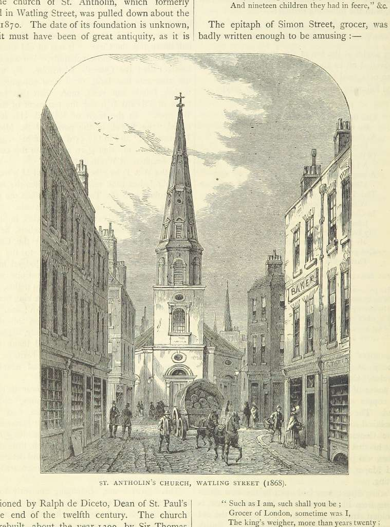 ONL (1887) 1.552 - St Antholin's Church, Watling Street, 1868