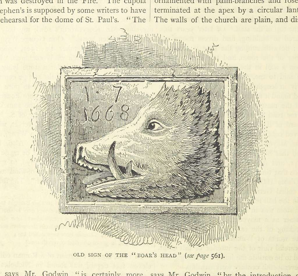 ONL (1887) 1.558 - Old Sign of the Boar's Head