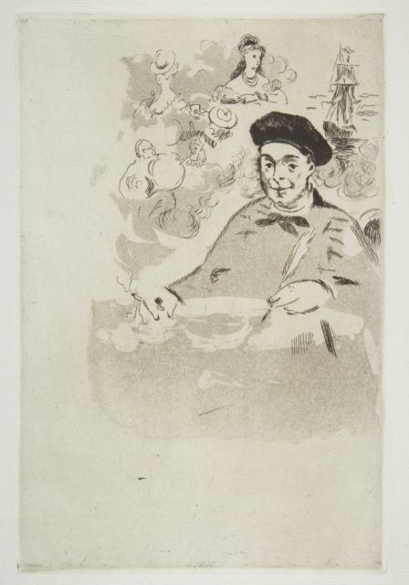 """Frontispiece for an edition of """"Les Ballades"""" by Théodore de Banville"""