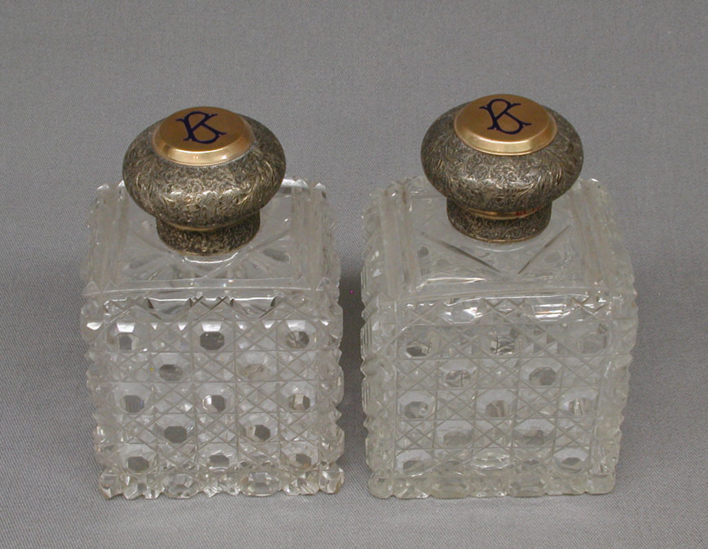 Square bottle with cover