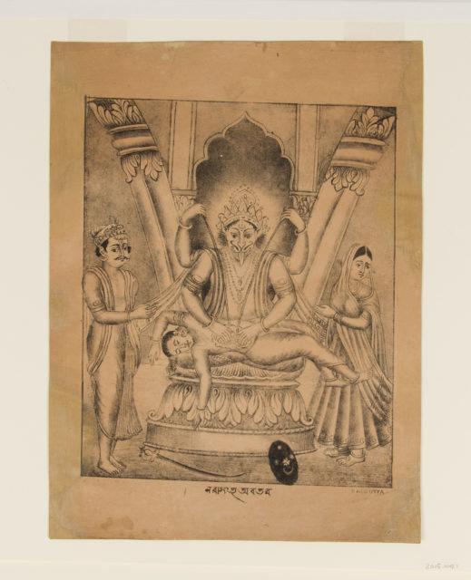 Narasimha Kills the Demon-King Hiranyakashipu