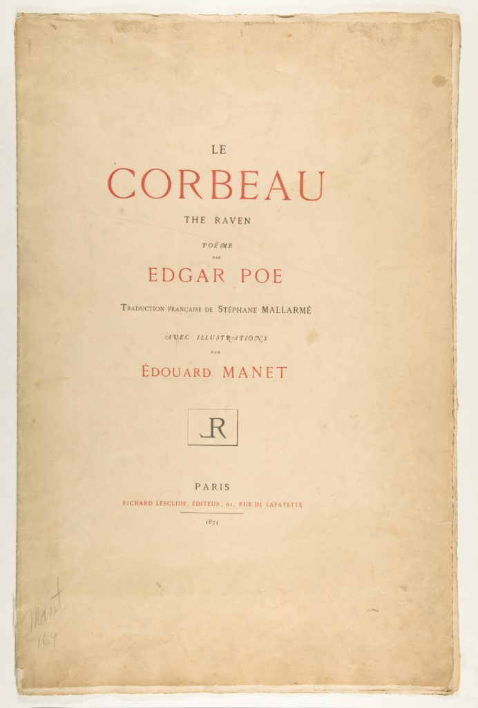 Portfolio cover and text for The Raven by Edgar Allan Poe