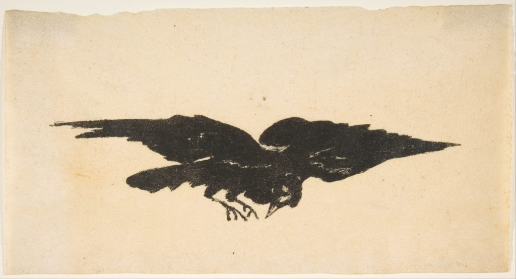 The Flying Raven, Ex Libris for The Raven by Edgar Allan Poe
