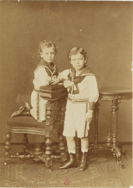 Emperor of Russia Nikolay II child portrait