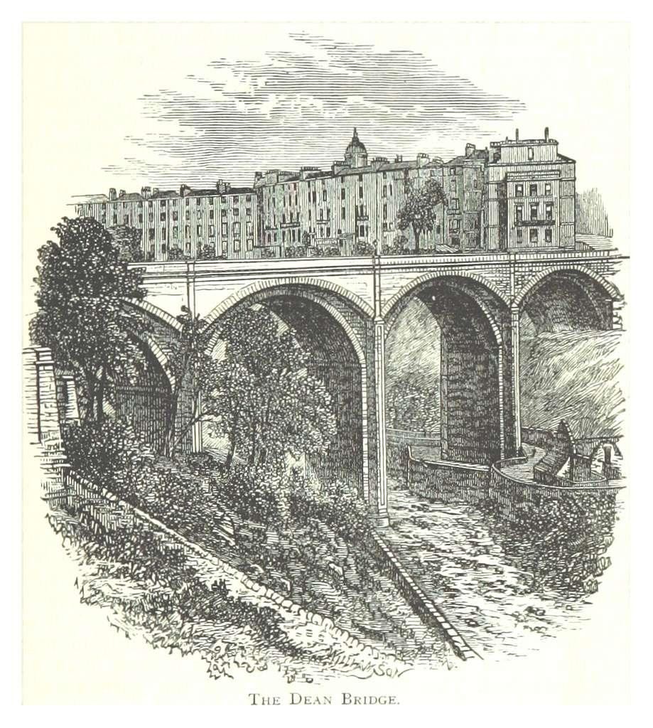 PATERSON(1875) p037 THE DEAN BRIDGE