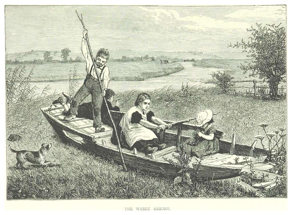 RO(1875) P087 THE WRECK ASHORE