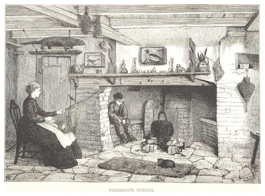 RO(1875) P210 FISHERMAN'S FIRESIDE