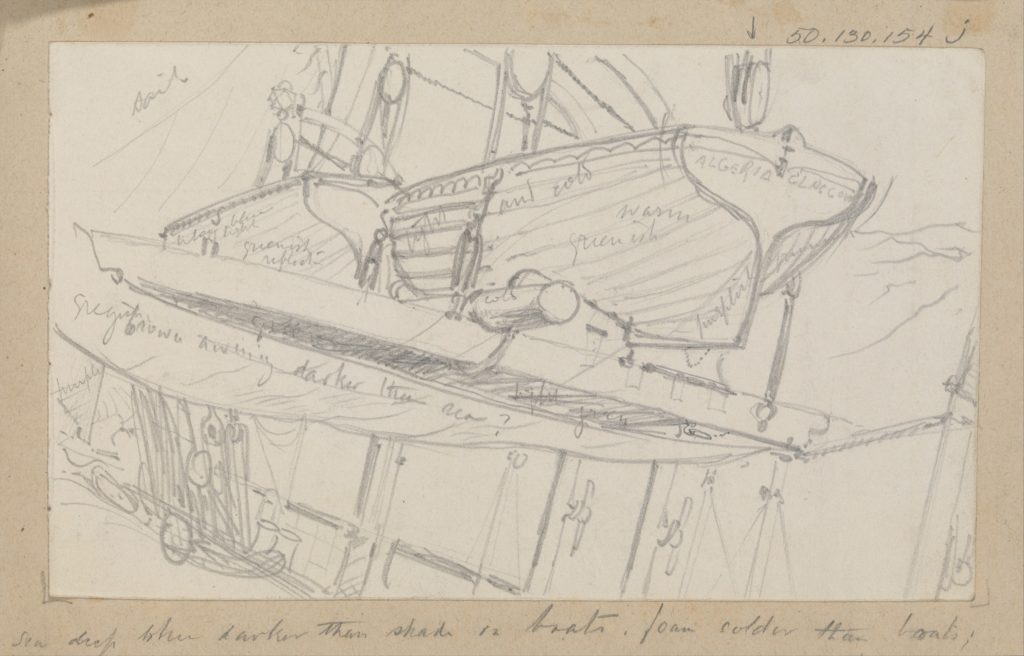 Lifeboats on Davits (from Scrapbook)
