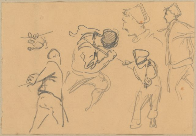 Men Pulling Ropes (from Scrapbook)