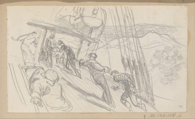 Sailors on Sloping Deck (from Scrapbook)