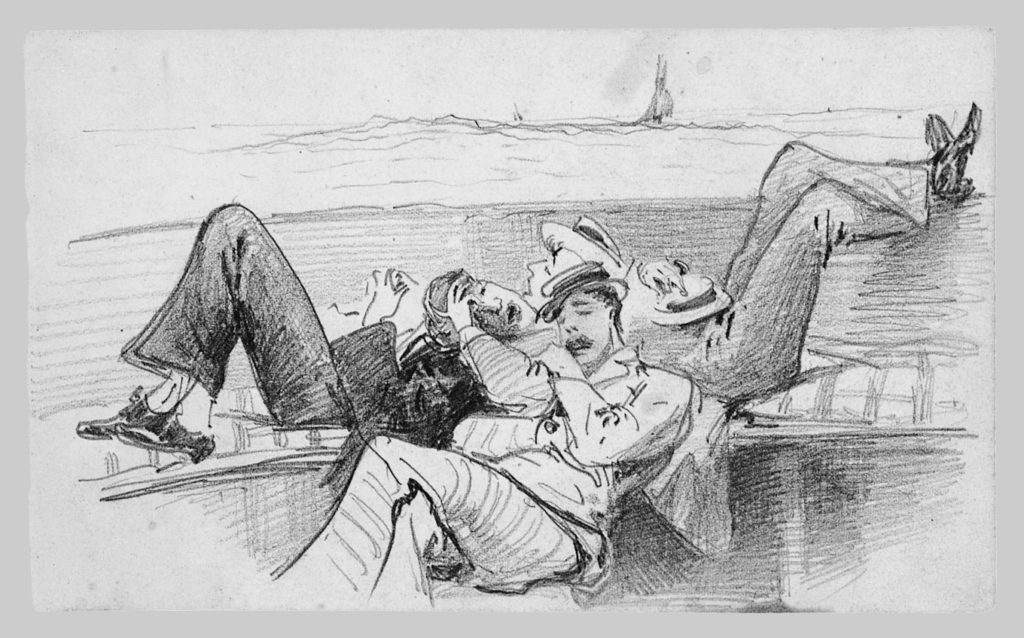 Siesta on a Boat