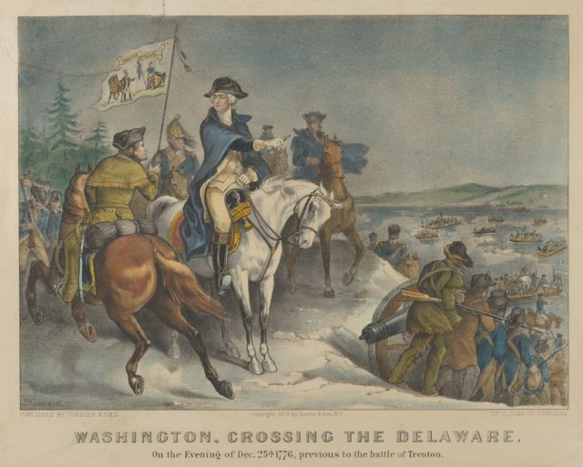 Washington, Crossing the Delaware–On the Evening of Dec. 25th 1776, previous to the Battle of Trenton.