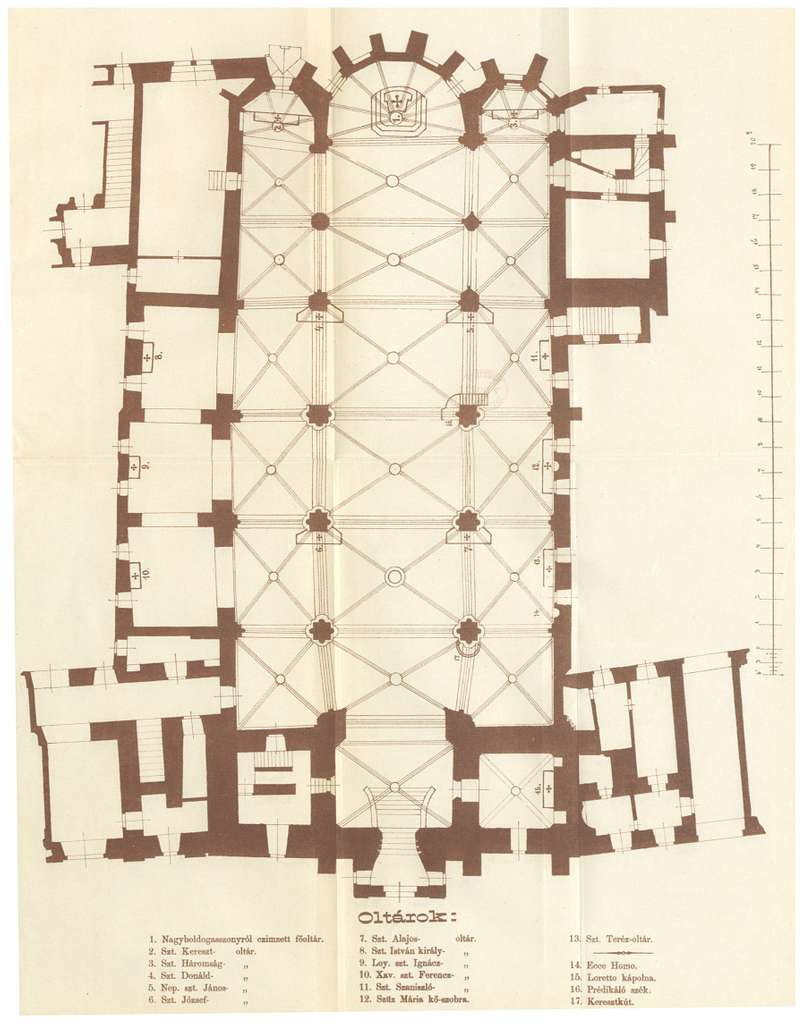 NEMETHY(1876) p253 Mátyás templom Alaprajz