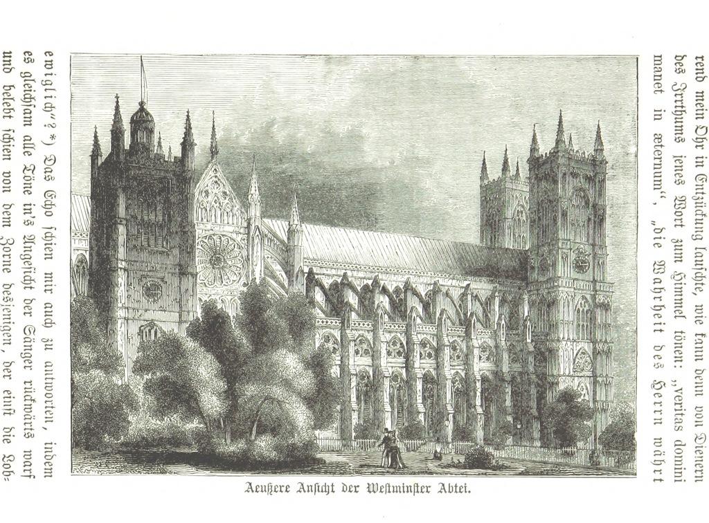 """City of Westminster from """"Zehn Bilder aus Süd-England oder: Wanderungen und Betrachtungen eines Katholiken, etc. [Illustrated.]"""""""