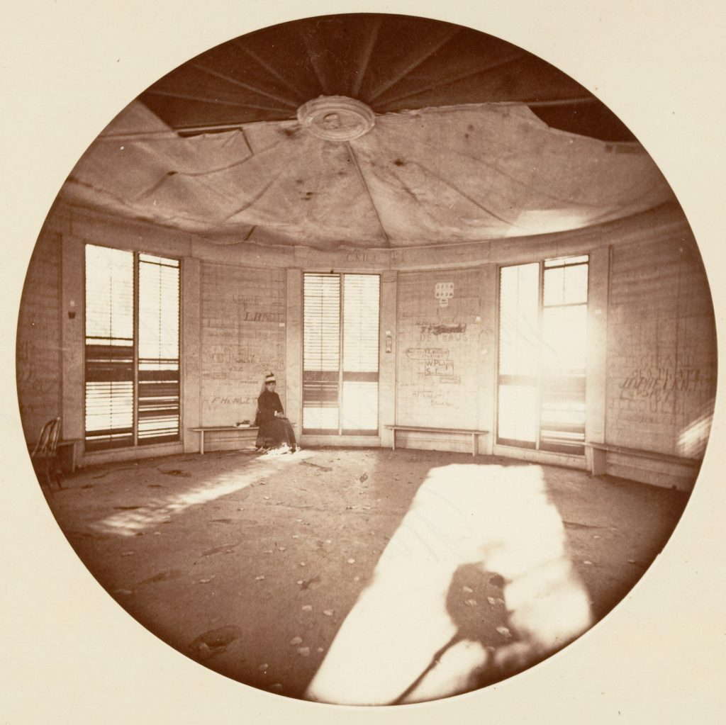 Interior of Pavilion Built on the Stump of the Tree, C. Grove