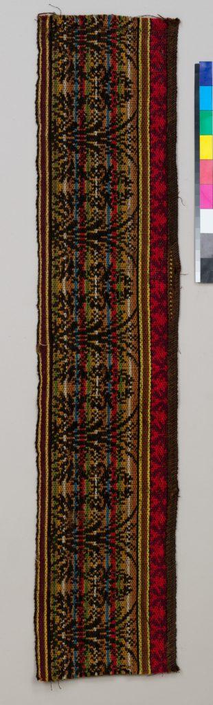 Ingrain carpet border piece