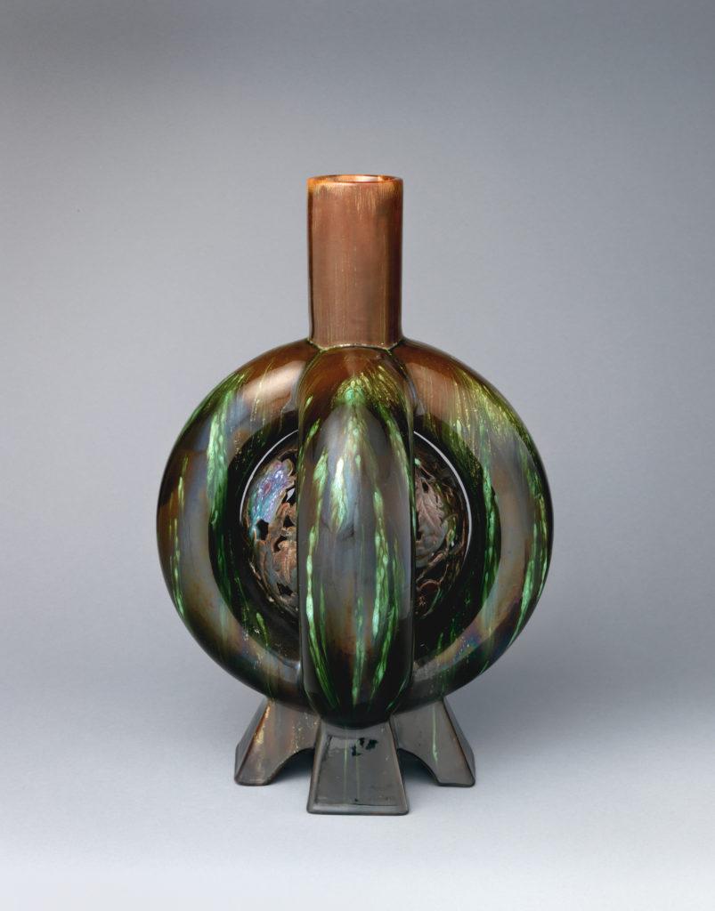 Lobed bottle vase