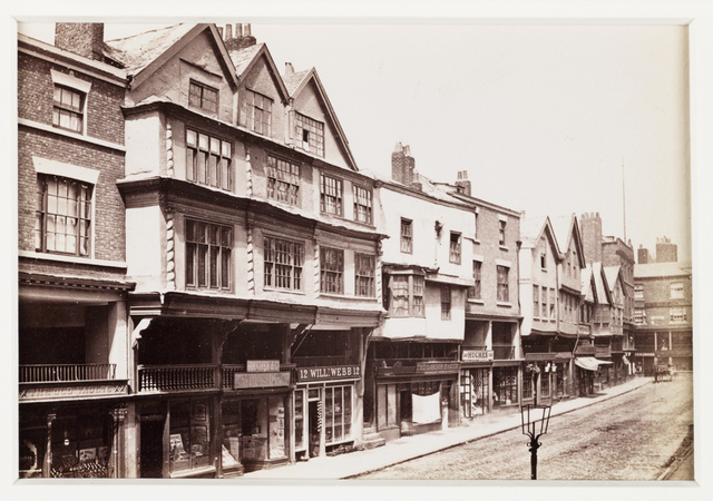 'Chester, Old Houses in Bridge Street'