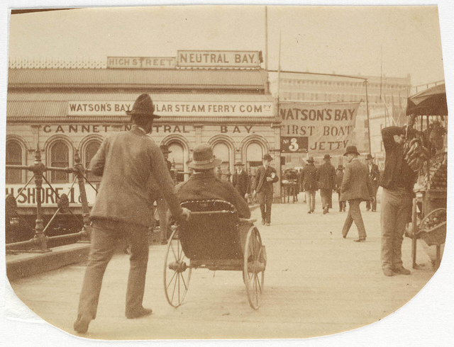People at Circular Quay  Sydney, ca. 1885-1890 / photographed by Arthur K. Syer