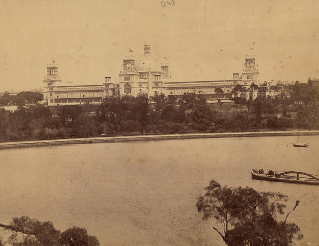 The International Exhibition, Sydney, from Lady Macquarie's Chair, 1879-1880 / photographed by C. Bayliss, 419 George Street [Sydney]