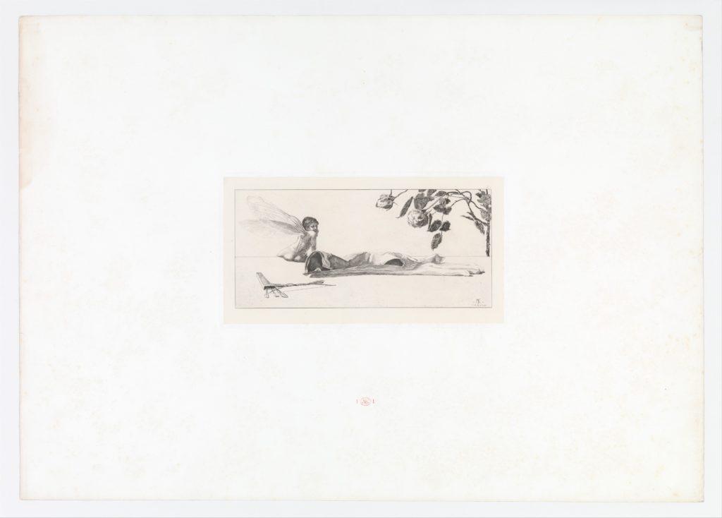 Amor (Cupid) from Ein Handschuh (A Glove). Cyclus von zehn Compositionen radirt. Rad. Opus VI, Plate X. First edition