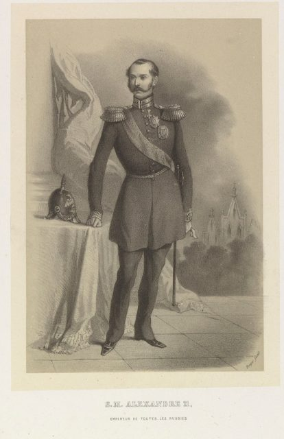 "Engraving of Alexander II, emperor of Russia from 1855 to 1881, ""Czar Liberator""."