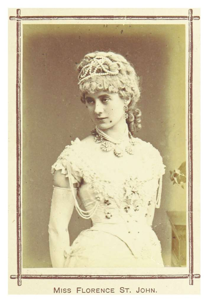 LONDON ILLUSTR(1881) p10.125 FLORENCE ST.JOHN