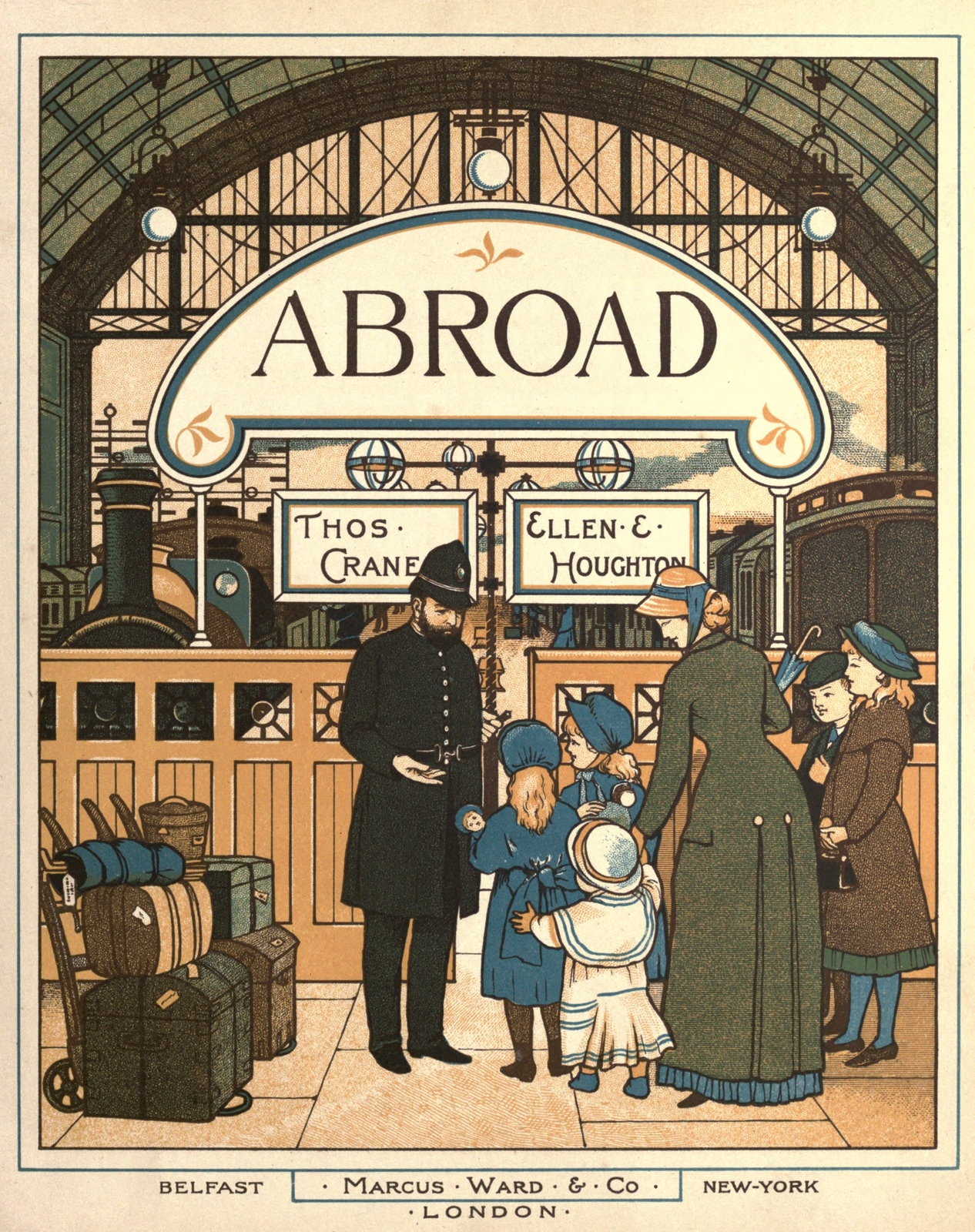 Abroad. Marcus Ward & Co. The stories of Mable and Rose and their trip from Victorian England to other places.