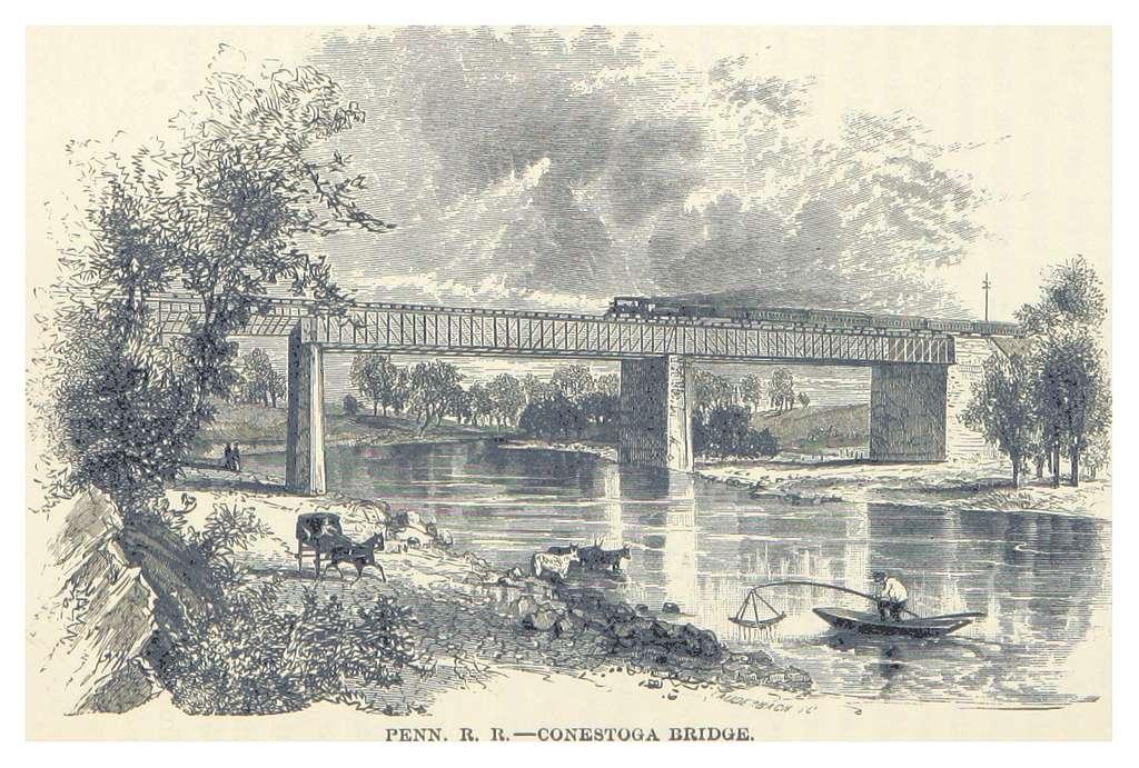 HEADLEY(1882) -p218 Penn. R. R. - Conestoga Bridge