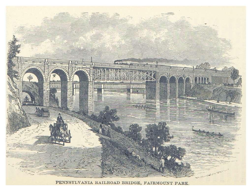 HEADLEY(1882) -p398 Pennsylvania Railroad Bridge, Fairmount Park