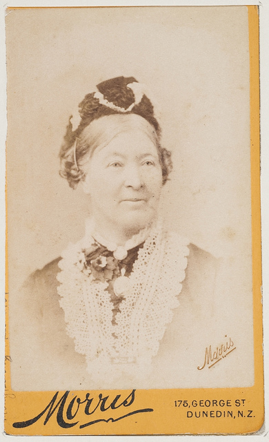 Miss Law, Principal of St Catherine's School, Waverley, 1882 / photographer Morris, Dunedin