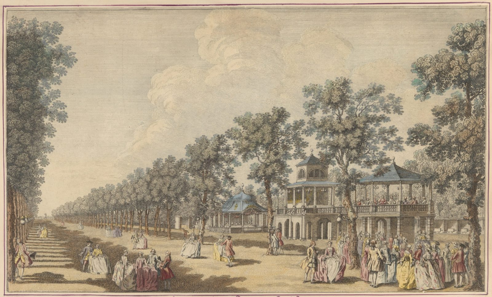 Vauxhall Illustrated: Scrapbook of miscellaneous British 18th and 19th century prints, including Vauxhall Gardens