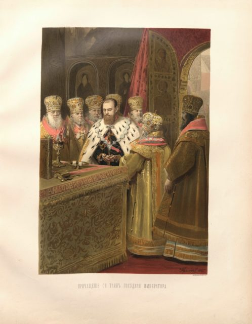 Sacred coronation of the Emperor Alexander III