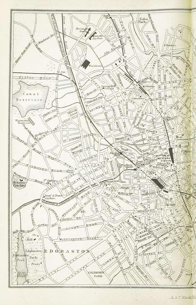 EW(1884) p.320 - Birmingham (left) - A + C Black (pub)