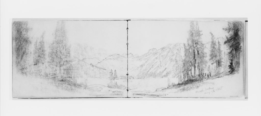 Crater Lake Aug 23, 1885 (from Sketchbook X)