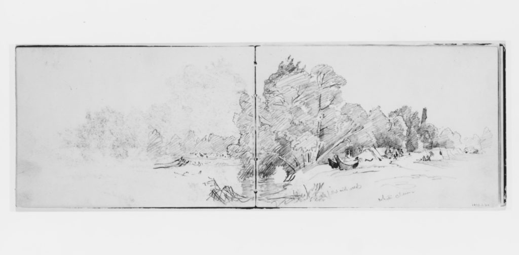 Distant Landscape with Encampment (from Sketchbook X)